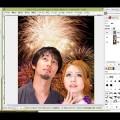 無料画像編集ソフトGIMPで人物画像合成!髪の毛切り抜き&画像透過&合成方法